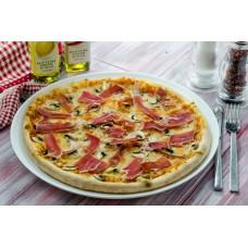 Pizza prosciutto crudo e funghi